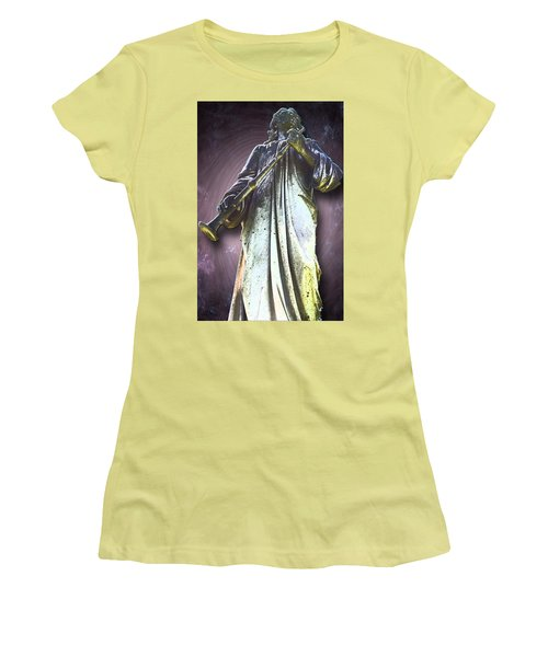 The Seventh Trumpet Women's T-Shirt (Junior Cut) by Lisa Brandel