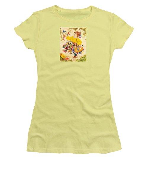 The Sock Lady Women's T-Shirt (Junior Cut) by Dee Davis