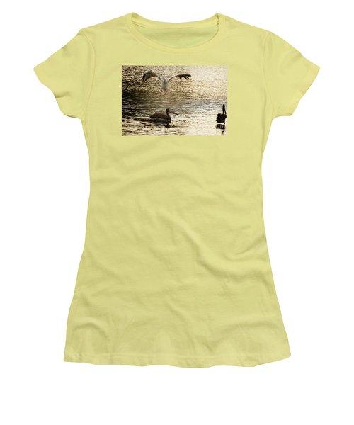 The Spot-billed Pelican Or Grey Pelican  Pelecanus Philippensis  Women's T-Shirt (Athletic Fit)