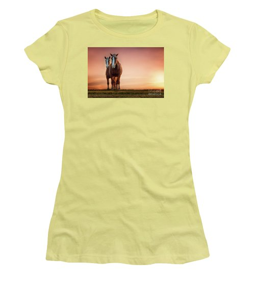 The Stallion And The Mare Women's T-Shirt (Junior Cut) by Tamyra Ayles