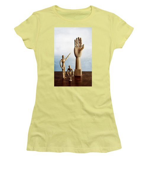 The Story Of The Creator Women's T-Shirt (Junior Cut) by Mark Fuller
