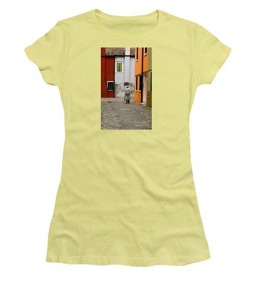 The Stroll Women's T-Shirt (Junior Cut) by Michael Cinnamond
