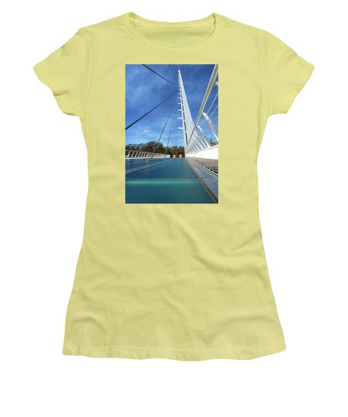 Women's T-Shirt (Athletic Fit) featuring the photograph The Sundial Bridge by James Eddy