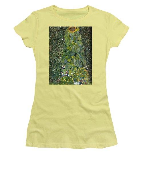 The Sunflower Women's T-Shirt (Junior Cut) by Klimt
