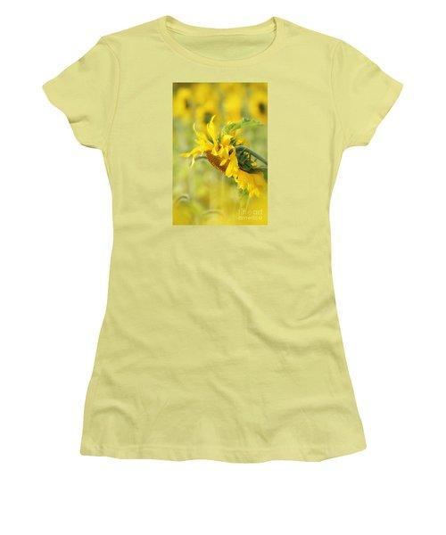 The Sunflower Women's T-Shirt (Junior Cut) by Lila Fisher-Wenzel