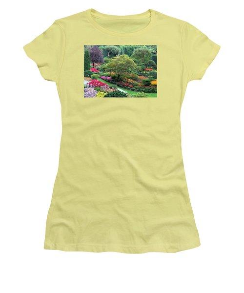 The Sunken Garden At Dusk Women's T-Shirt (Junior Cut) by Betty Buller Whitehead