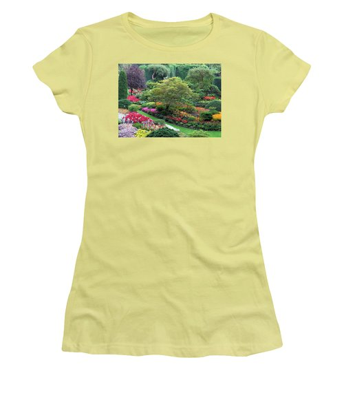 The Sunken Garden At Dusk Women's T-Shirt (Athletic Fit)