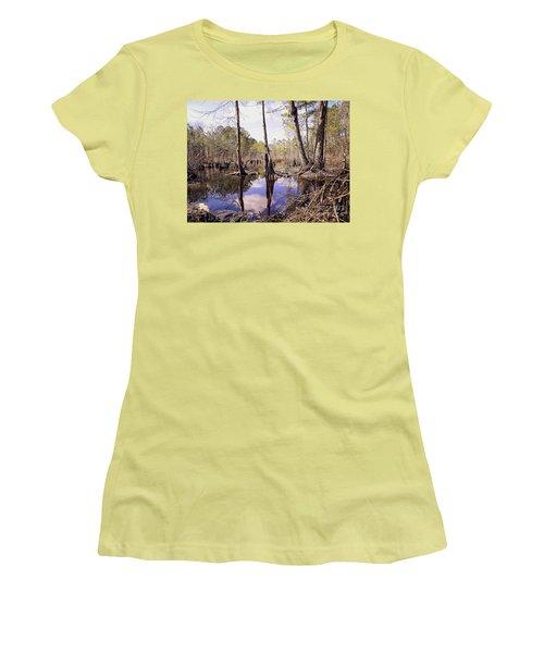 The Swamp Women's T-Shirt (Junior Cut) by Melissa Messick