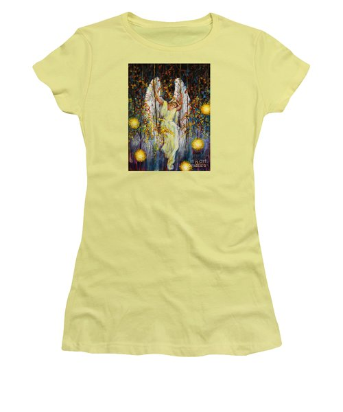 The Swinging Angel Women's T-Shirt (Athletic Fit)