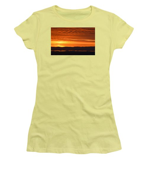 Women's T-Shirt (Junior Cut) featuring the photograph The Textured Sky by AJ Schibig
