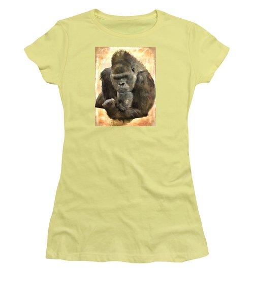 The Thinker Women's T-Shirt (Junior Cut) by Diane Alexander