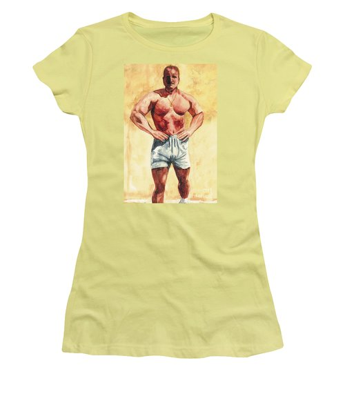 Women's T-Shirt (Junior Cut) featuring the painting The Trainer by Vicki  Housel