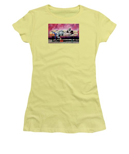 The Traveler 1 - El Viajero 1 Women's T-Shirt (Athletic Fit)