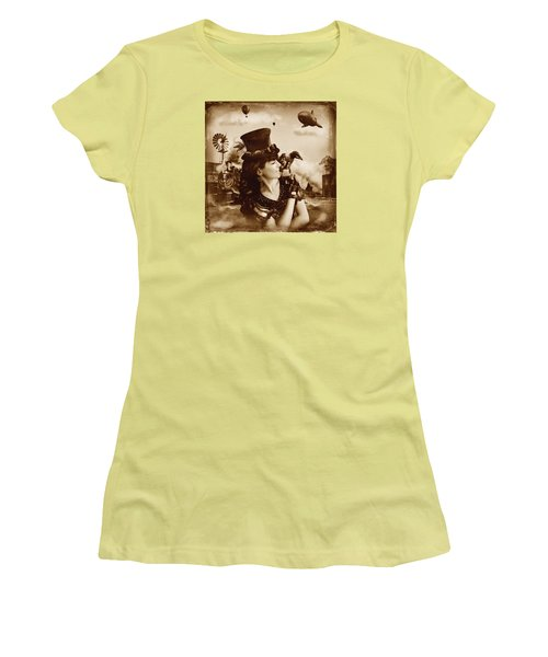 The Traveler Vintage Sepia Version Women's T-Shirt (Athletic Fit)