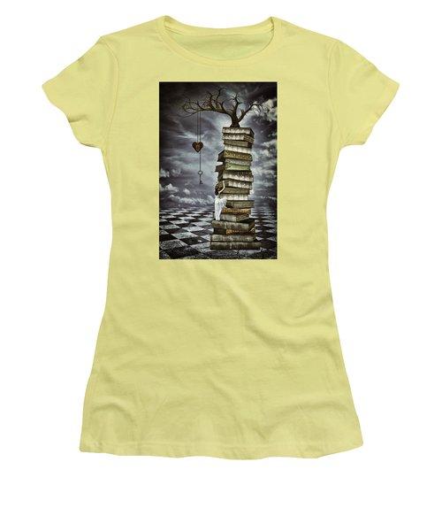 The Tree Of Love Women's T-Shirt (Junior Cut) by Mihaela Pater