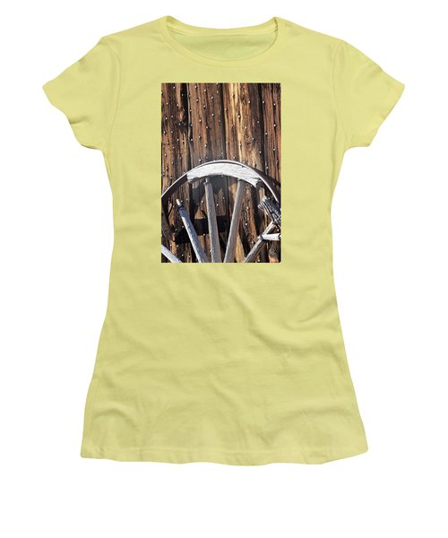 The True Broken Spokes Women's T-Shirt (Junior Cut) by John Glass