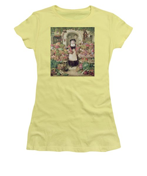 The Vegetable Stall  Women's T-Shirt (Athletic Fit)
