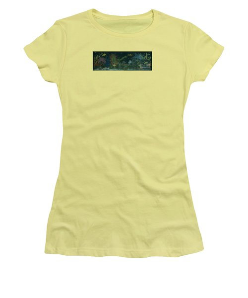 Women's T-Shirt (Junior Cut) featuring the drawing The Visitor by Dawn Fairies