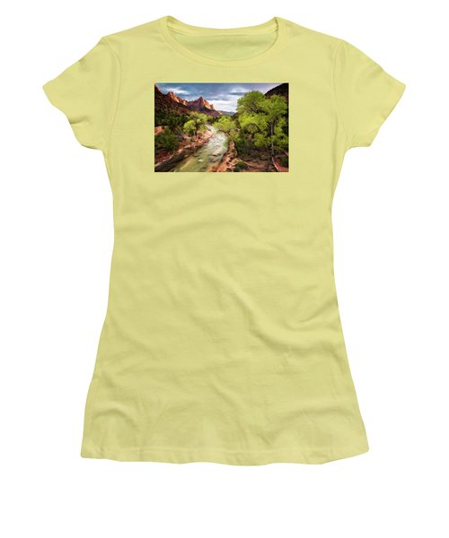 The Watchman Women's T-Shirt (Junior Cut) by Eduard Moldoveanu