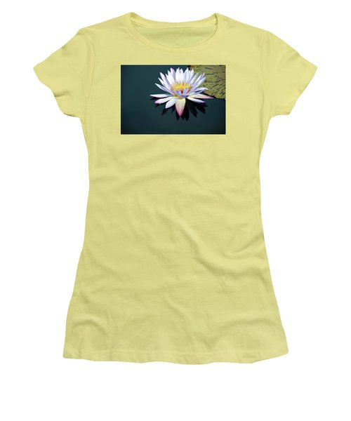 The Water Lily Women's T-Shirt (Junior Cut) by David Sutton