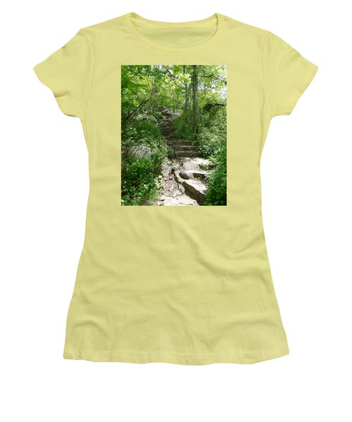 Women's T-Shirt (Junior Cut) featuring the photograph The Work Of Unknown Hands by Joel Deutsch