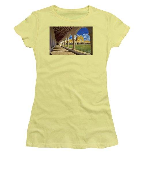 The Yellow City Of Izamal, Mexico Women's T-Shirt (Junior Cut) by Sam Antonio Photography