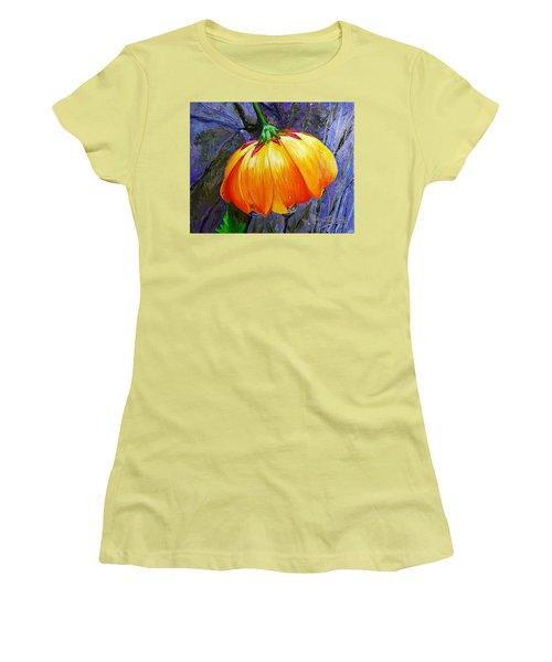 The Yellow Flower Women's T-Shirt (Junior Cut) by Janet Garcia