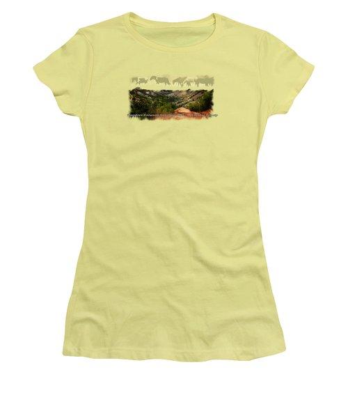 Theodore Roosevelt National Park Women's T-Shirt (Junior Cut) by Ann Lauwers