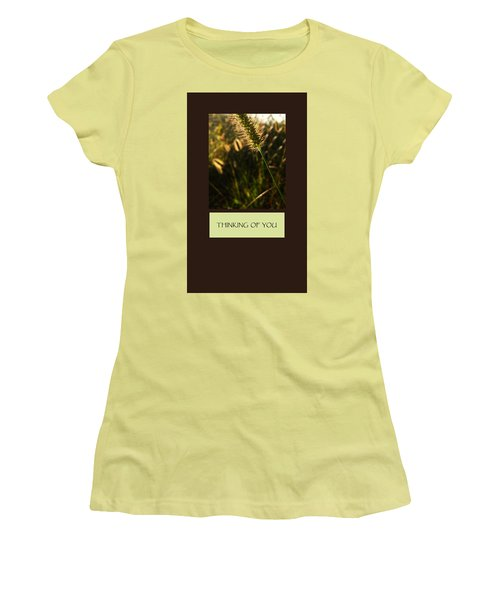 Thinking Of You Women's T-Shirt (Junior Cut) by Mary Ellen Frazee