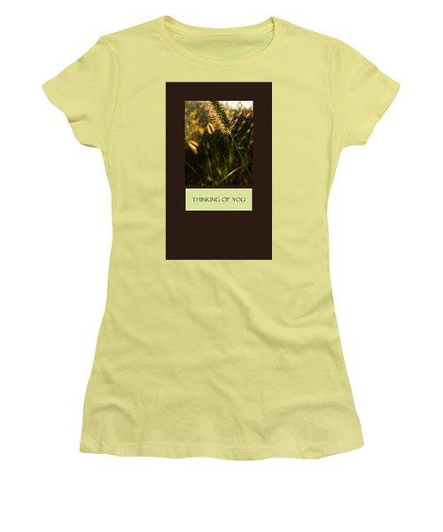 Thinking Of You Women's T-Shirt (Junior Cut) by Mary Ellen Frazee