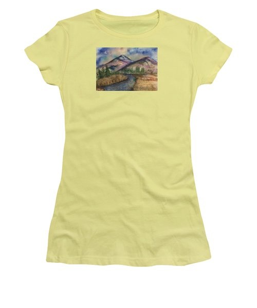 Thoughts Of Glacier Women's T-Shirt (Athletic Fit)