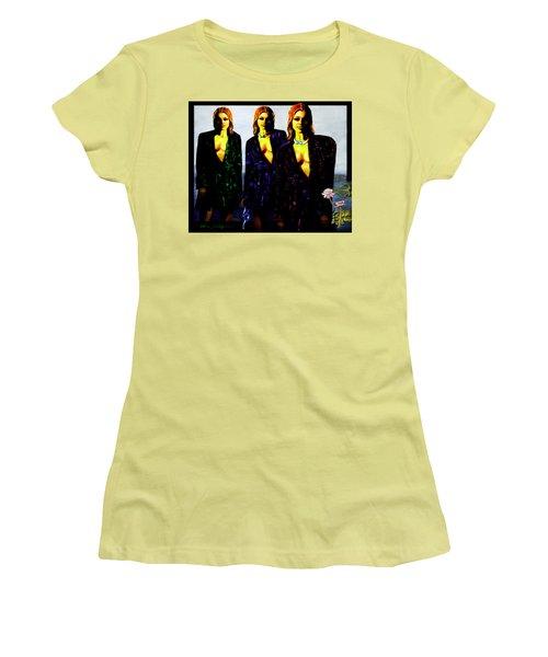 Three  Beautiful Triplet Ladies Women's T-Shirt (Junior Cut) by Hartmut Jager