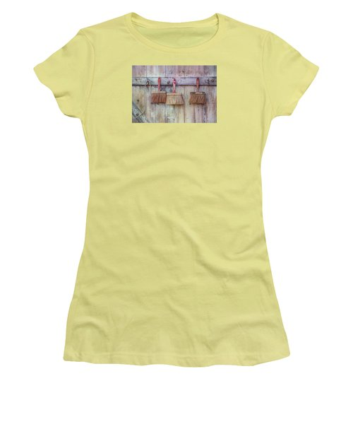 Women's T-Shirt (Junior Cut) featuring the photograph Three Brushes by Tom Singleton