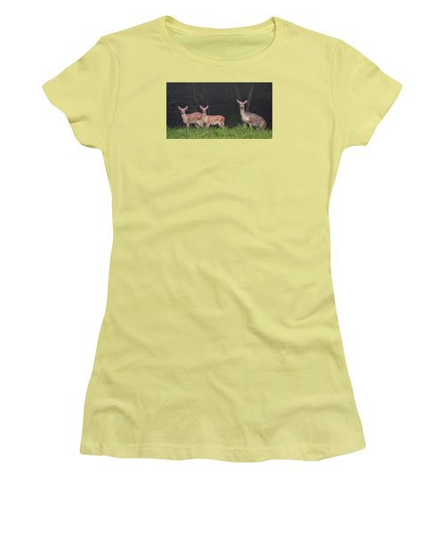 Three Does Women's T-Shirt (Athletic Fit)