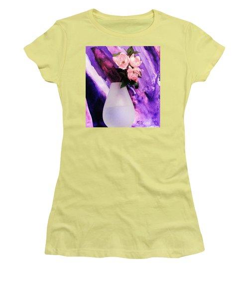 Three Feminine Roses Women's T-Shirt (Athletic Fit)
