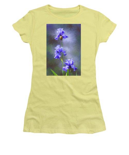 Three Iris Women's T-Shirt (Junior Cut) by Lena Auxier