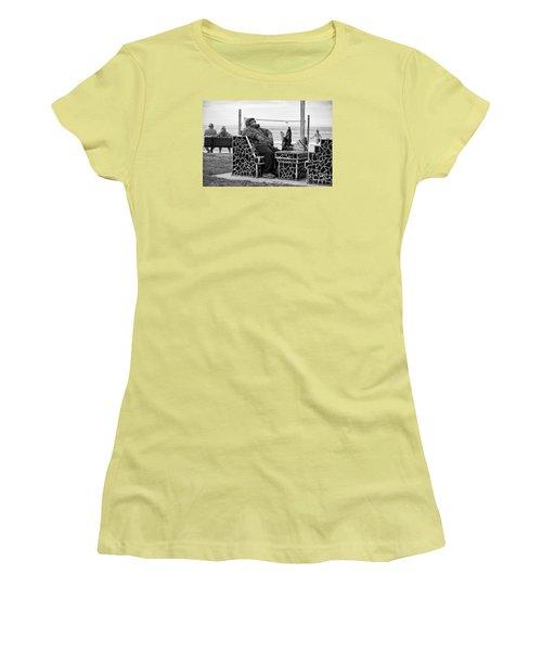 Three Laguna Lifestyles Women's T-Shirt (Junior Cut) by Vinnie Oakes