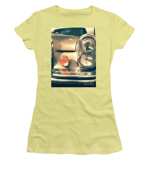 Women's T-Shirt (Athletic Fit) featuring the photograph Three Lights - Gold by Rebecca Harman