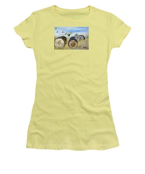 Three Logs Women's T-Shirt (Junior Cut) by Evelina Popilian