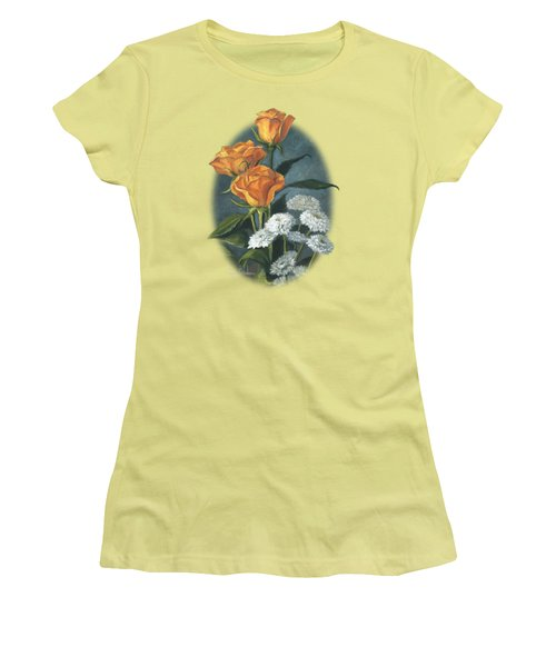Three Roses Women's T-Shirt (Athletic Fit)