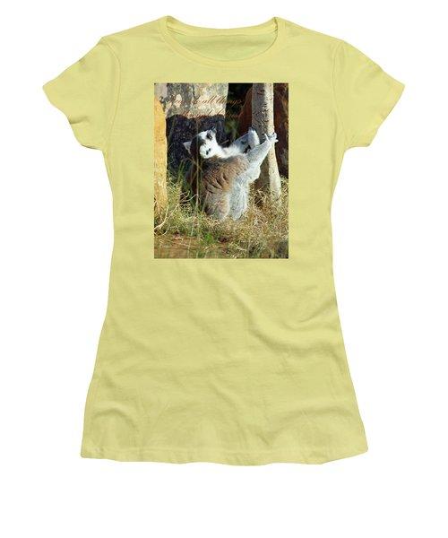 Through Christ Women's T-Shirt (Junior Cut) by Inspirational Photo Creations Audrey Woods