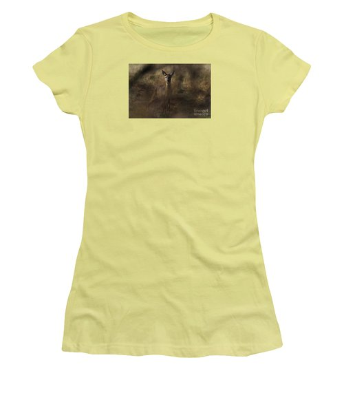 Women's T-Shirt (Junior Cut) featuring the photograph Through The Hedge Row  by Gary Bridger