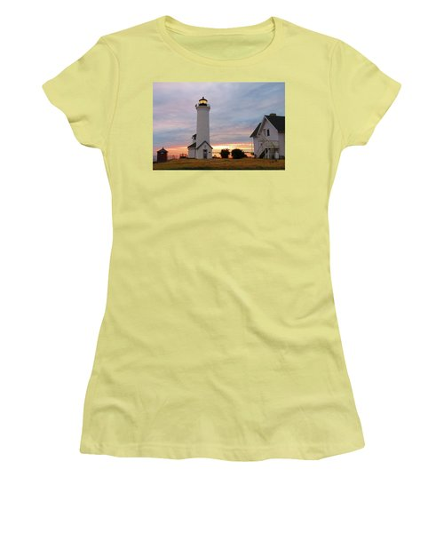 Tibbetts Point Lighthouse, July Sunset Women's T-Shirt (Athletic Fit)