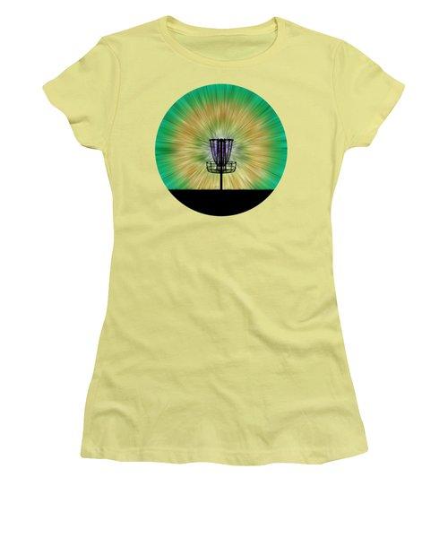 Tie Dye Disc Golf Basket Women's T-Shirt (Junior Cut) by Phil Perkins