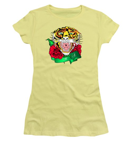 Tiger L Women's T-Shirt (Junior Cut) by Mark Ashkenazi