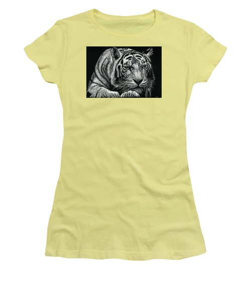 Tiger Pause Women's T-Shirt (Athletic Fit)