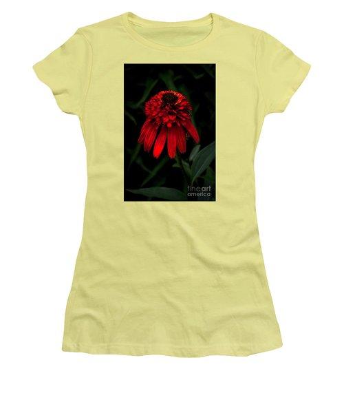 Tiki Torch Women's T-Shirt (Junior Cut) by Judy Wolinsky