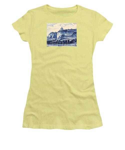 Tile Art Of African History Women's T-Shirt (Junior Cut) by John Potts