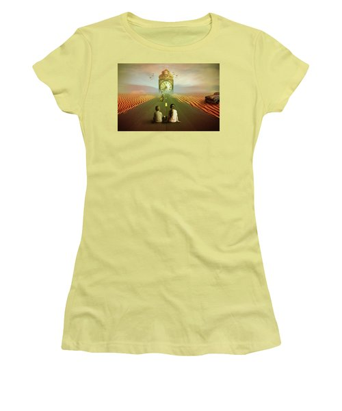 Women's T-Shirt (Junior Cut) featuring the digital art Time To Grow Up by Nathan Wright