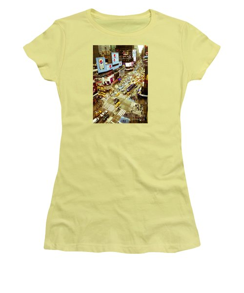 Times Square Traffic Women's T-Shirt (Junior Cut) by Perry Van Munster
